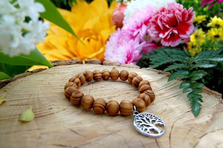 Wooden Tree of Life Bracelet