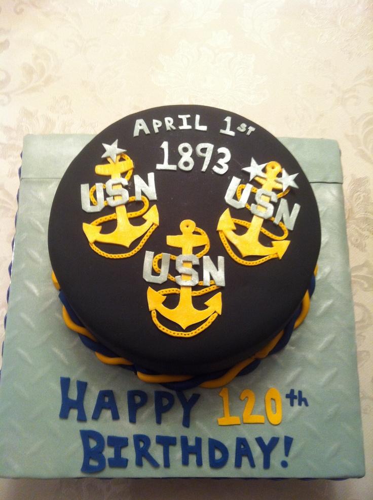 Navy Chief Birthday Cake Celebrates 120 Years Of The Rank