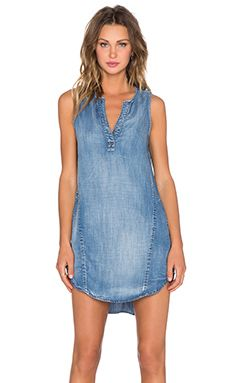 Bella Dahl Sleeveless Seams Dress in Weathered Wash