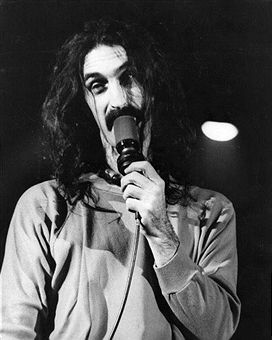 American experimental rock singer, songwriter, guitarist and composer Frank Zappa (1940 - 1993), on stage at the Hammersmith Odeon, London.