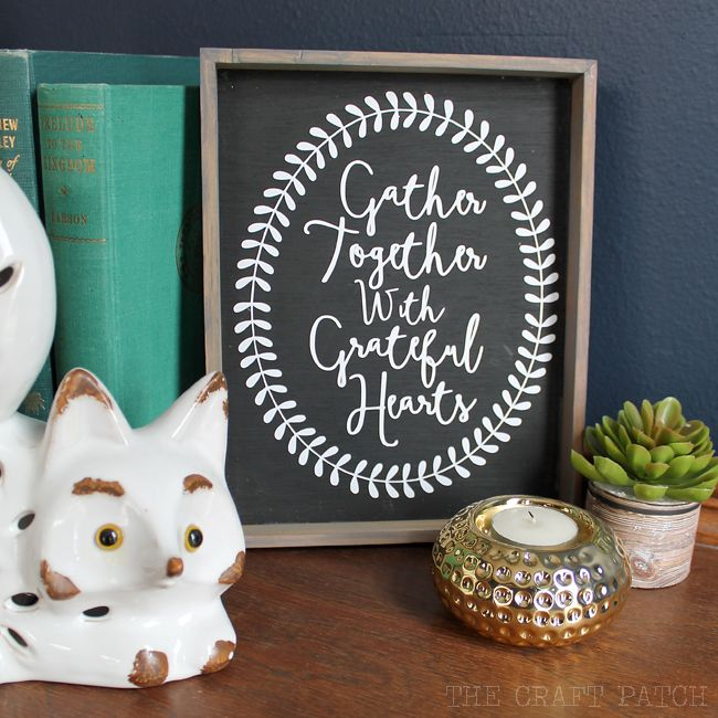 DIY Rustic Wood Framed Sign with Free Silhouette Cut File!