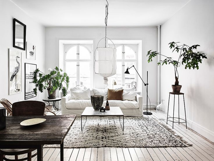 Charming Bright Scandinavian Living Room Part 14