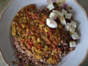 Вегетарианство - Гречка с адыгейским сыром и подливкой