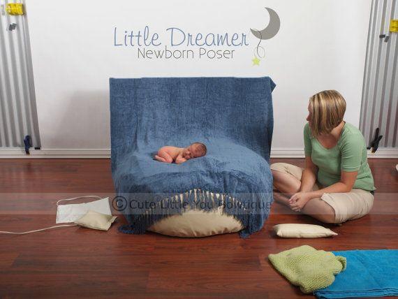 Newborn photography 75 00 newborn beanbag poser little dreamer props