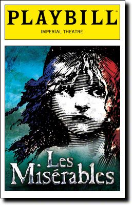 The new Playbill cover for the revival of Les Mis.  Previews begin March 1 at the Imperial Theatre.  Let us know what you think about the revival at BroadwayAudience.com