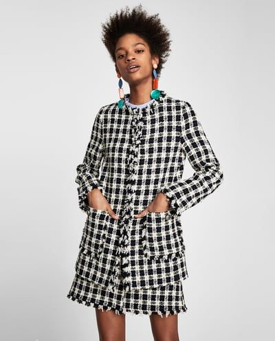 CHECKED LONG JACKET-NEW IN-WOMAN | ZARA United States