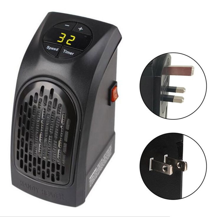 Wall-Outlet Electric Handy Heater Portable Electric Heater/Stainless Steel Stove Hand Warmer Hot Blower Room Fan Rad