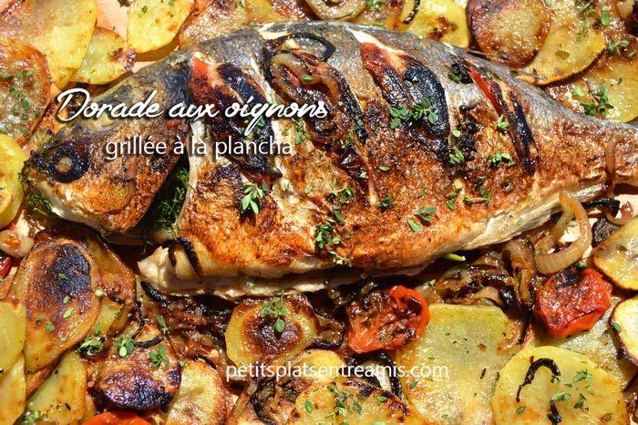 La cuisson du poisson à la plancha est un vrai bonheur. Cette fois, c'est une dorade aux oignons grillée à la plancha que je vous propose. Farcie d'oignons légèrement caramélisés et aro…