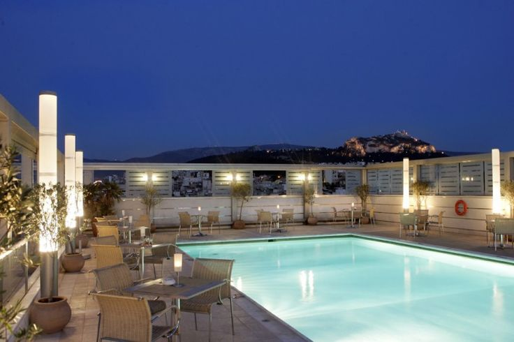 The exceptional atmosphere of St' Astra Blue roof garden! Ideal for summer events!  http://www.rbathenspark.com