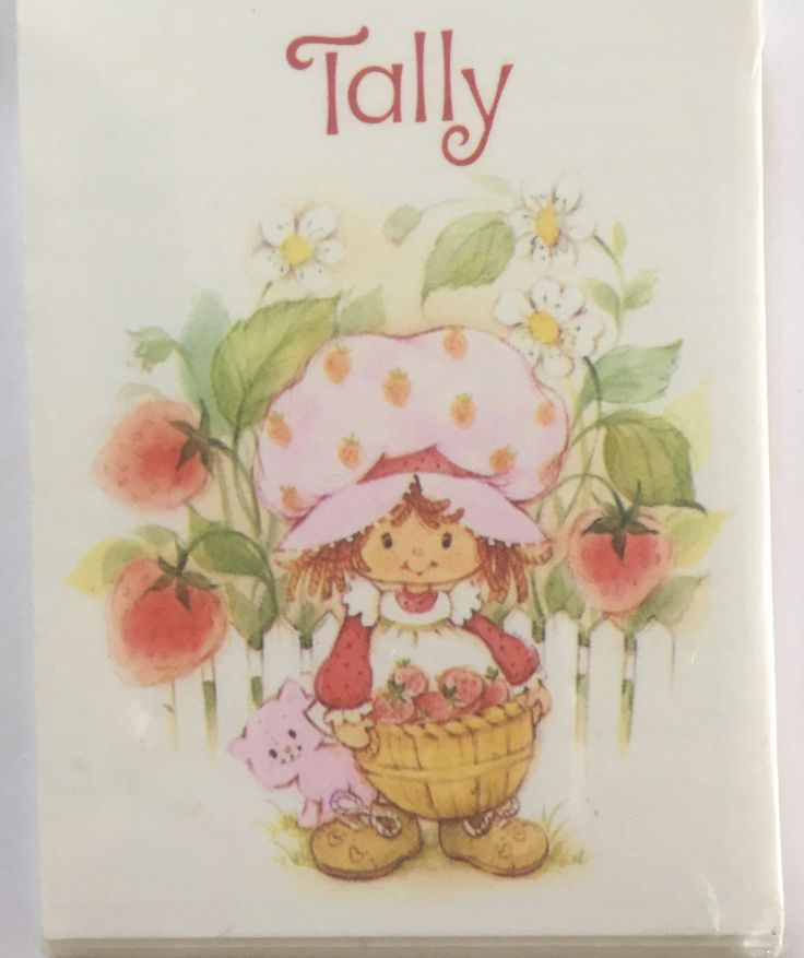 Vintage Strawberry Shortcake Tally Cards, 8-Two Table Tallies, by ChezShirlianne on Etsy