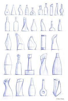 beautiful bottle sketches by   Jonathan Osborne                                                                                                                                                                                 More