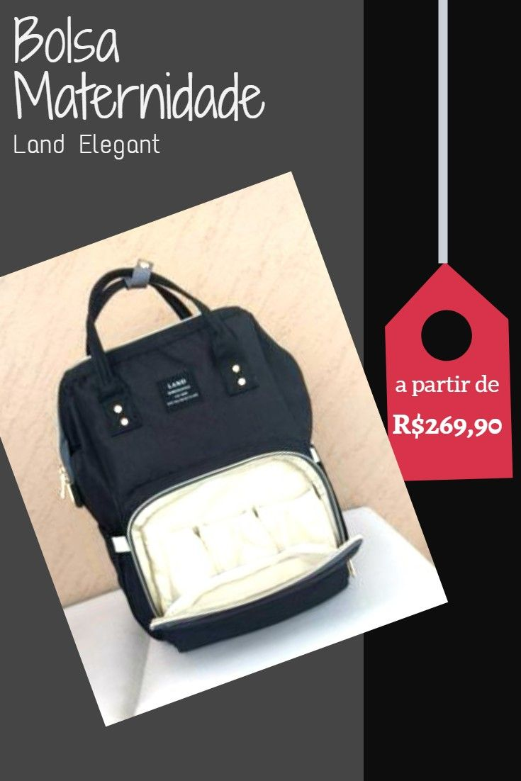 1fe286d5d R$269.90 - R$299.90 Bolsa de Maternidade Land Elegant - Várias Cores  Carregue todas as
