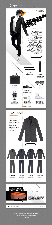 Editorial fashion magazine style. Newsletter graphic design inspirational. Dior.