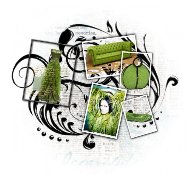 GreenWitch by leotheo on Polyvore featuring art and greenday