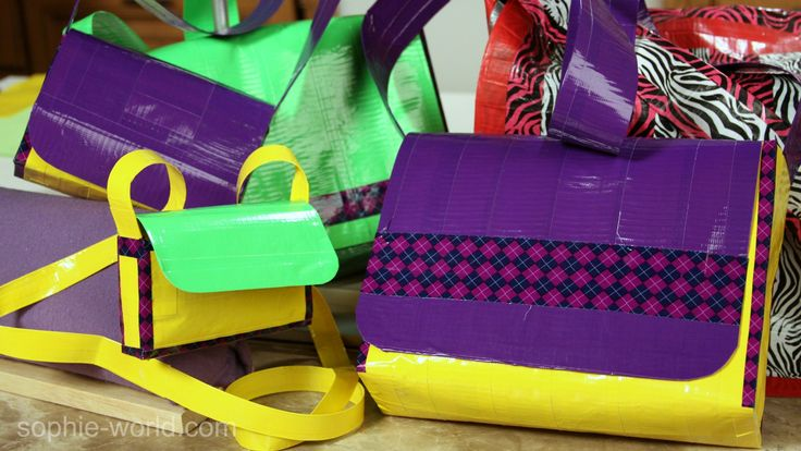 How to make a Duct Tape Messenger Bag : Part ONE | Sophie's World
