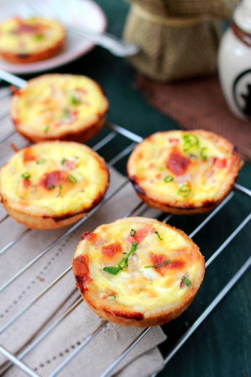 Mini Quiches - These will make a nifty addition to the Thanksgiving appetizers.