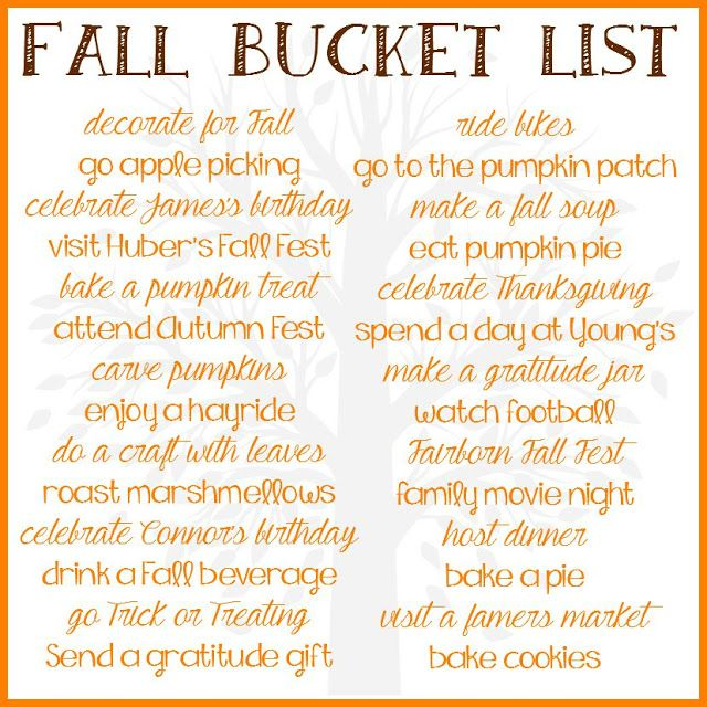 Wife Mommy Me: 2015 Fall Bucket List #fall #bucket #list #memories #holidays #birthday