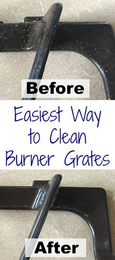 This trick to getting those stove top grates clean is so easy. Wish I'd seen this before!