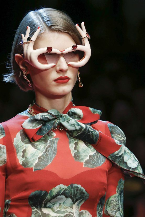 Dolce and Gabbana hands sunglasses  Milan fashion week SS18