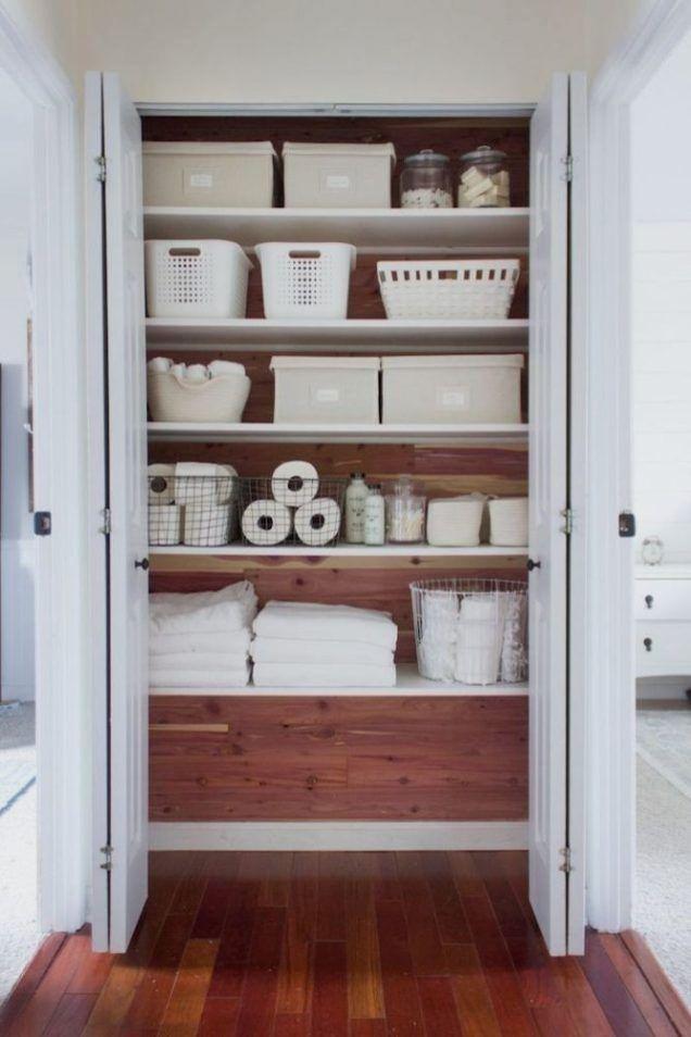 13 Diy Closet Organizers For Tidy Bedrooms Bathroom Linen Closet Linen Closet Organization Small Linen Closets