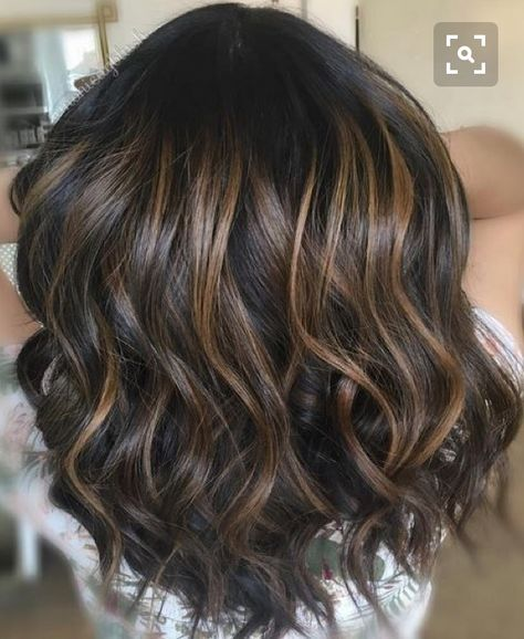 Dark brunette with low lights