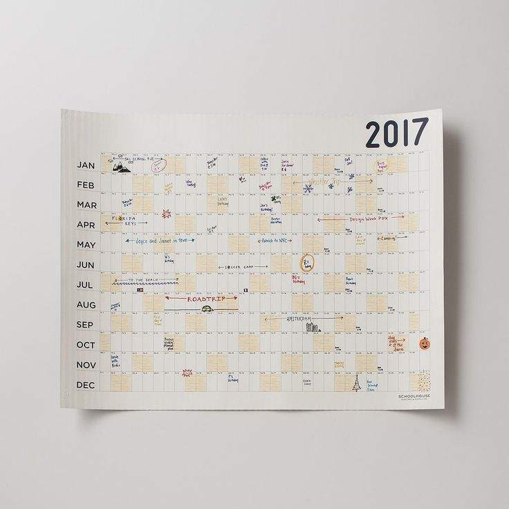 GIFTS FOR THEM by Schoolhouse Electric | Egg Press x Schoolhouse Big Picture Calendar