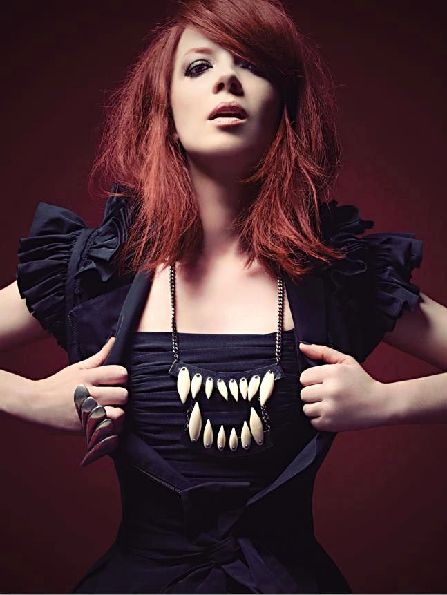 Shirley Manson, lead singer of Garbage. #shirleymanson #garbage #redhead