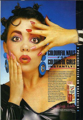 Dolly magazine, November 1987 - Krazy Nails ad