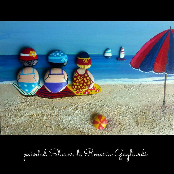 In spiaggia  con le amiche
