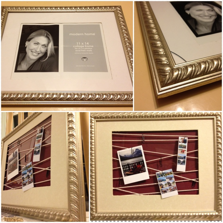 Old photo frame with a broken corner transformed :) super simple and great way to hide the chipped corner!