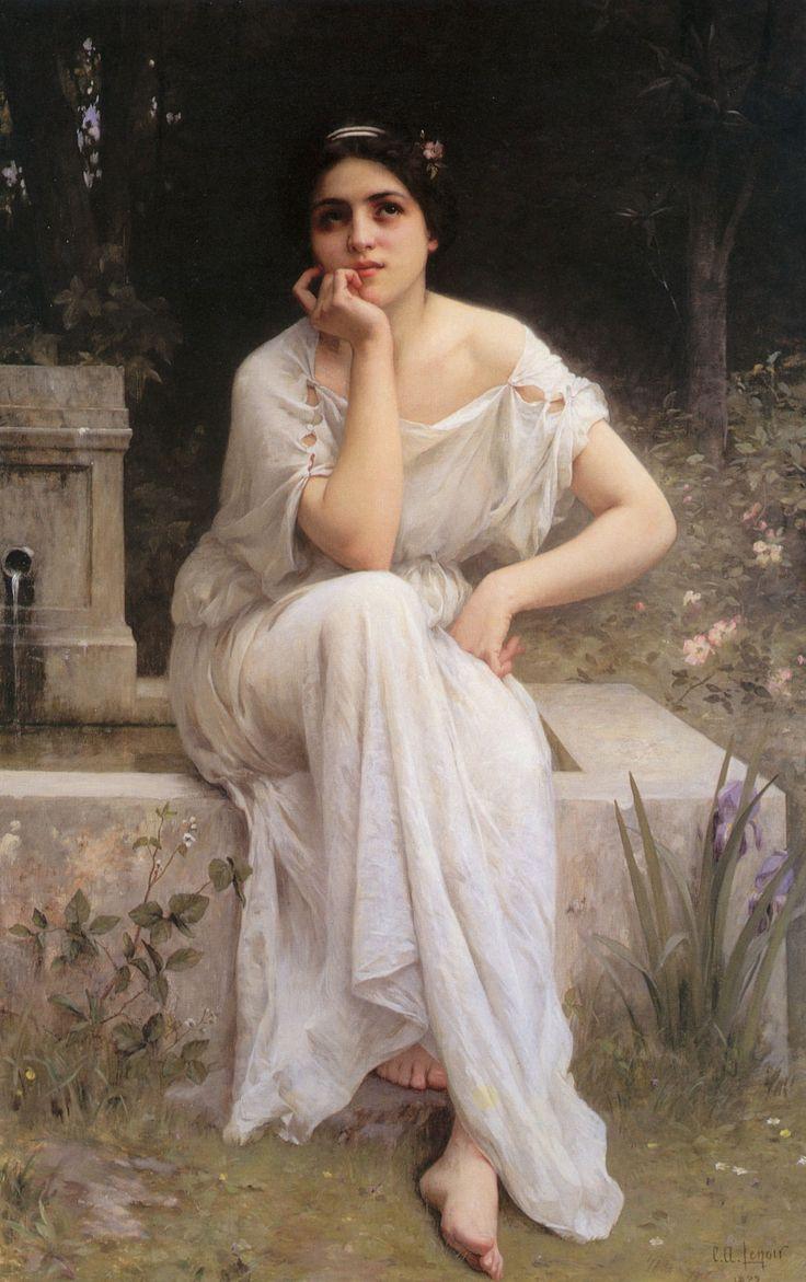 "Charles Amable Lenoir - ""Meditation""."