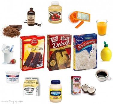 Doctoring boxed cake mixes
