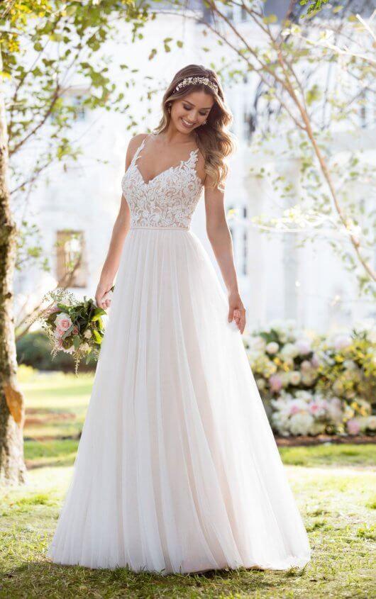 6555 Soft and Romantic Boho Wedding Dress by Stella York | Simple Wedding Dresses | The White Closet Bridal Tampa, FL