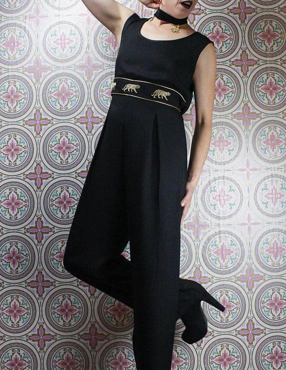 Tiger jumpsuit in my Etsy shop https://www.etsy.com/ca/listing/588147895/90s-tiger-jumpsuit-black-gold-sleeveless