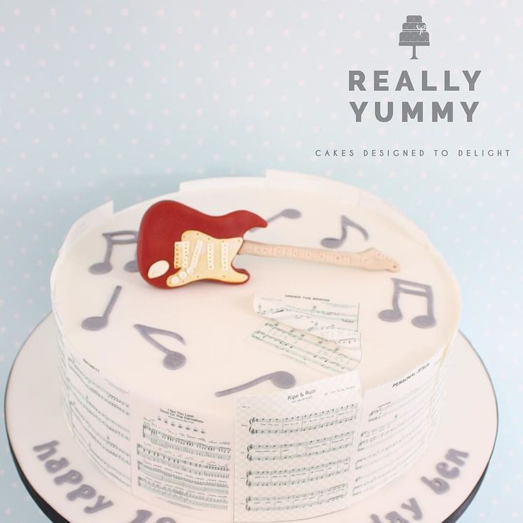 A super busy week this week made slightly more tricky by the heatwave but this is one from last weekend for Ben with a replica of his new guitar and edible sheet music by his favourite bands  #guitar #birthdaycake #music #bands #18thbirthday #reallyyummycakes #cakedesigner #bespokecakes #hampshirecakes #winchestercakes #cakes #winchester #hampshire #designercakes #designinspiration #designprocess #ryfb