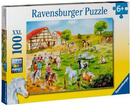 Póni farm puzzle 100 db XXL (Ravensburber) | Pandatanoda.hu Játék webáruház