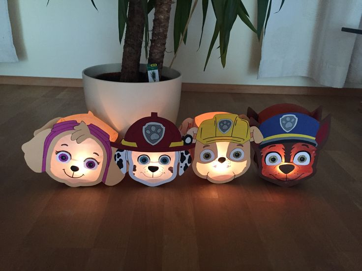 #Paw Patrol Laterne #Sky #Marshall #Rubble #Chase