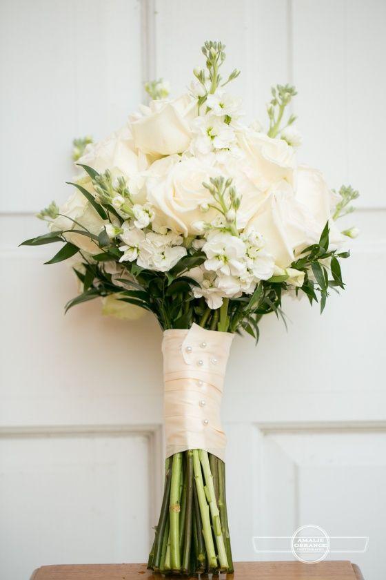 Bouquet de Noiva - Cor Branca e Verde