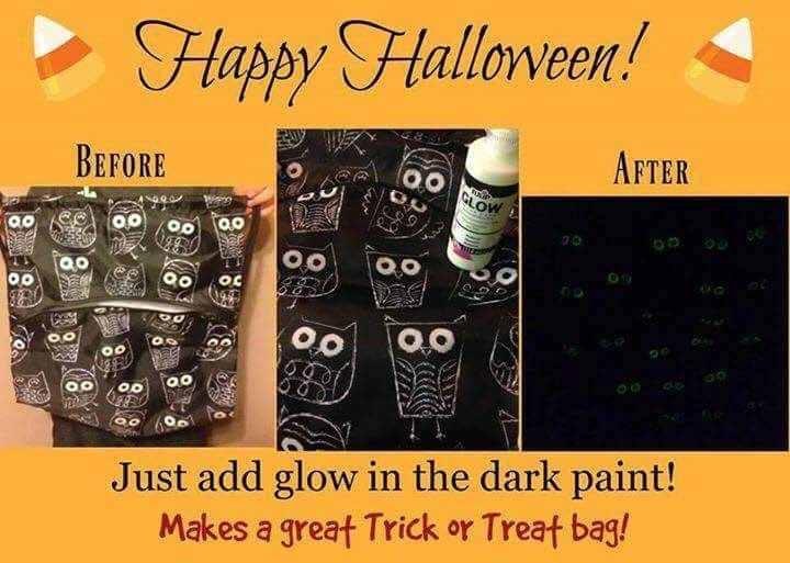 Thirty-one Halloween with Diy Glow in the Dark Owls #31gifts #owls #halloween