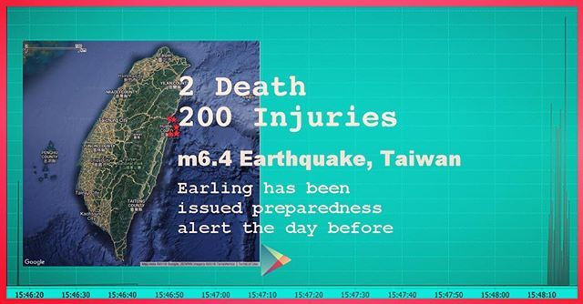 Earling issued preparedness alert the day before. M6.4 earthquake hit east of Taiwan and it almost felt in whole of the country. . . . #earthquake #taiwan #code #cloud #iot #technology #tech #gadgets #android #redcross #un #gfz #usgs #hero #unisdr #undp #hacker #hacker #crowdsourcing #humanitarianaids #blockchain #diasterrelief #disastermovie #crisismanagement