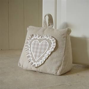Doorstop with gingham heart - love this!