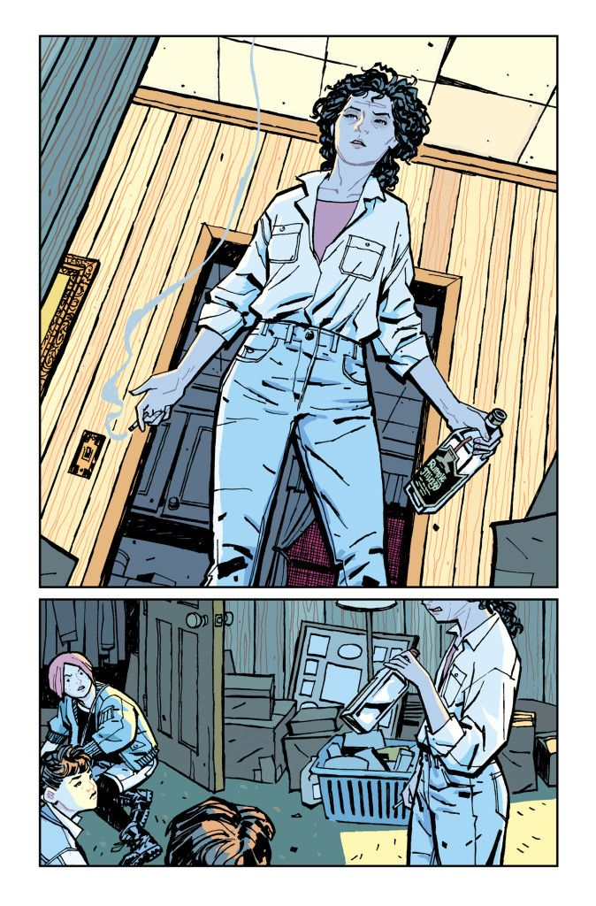 Paper Girls #2 p 18 W Brian K Vaugh LA Cliff Chiang C Matt Wilson