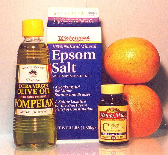 Epsom Salt, Extra Virgin Olive Oil, Grapefruit, Vitamin C...