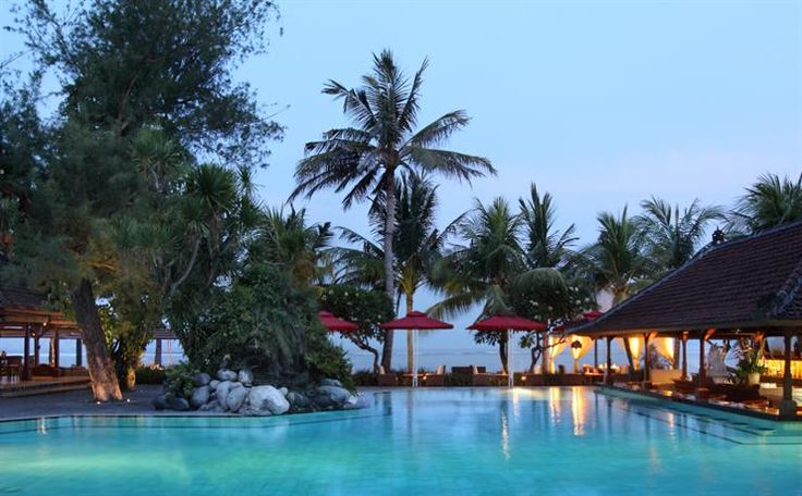OopsnewsHotels - Griya Santrian a Beach Resort. Situated in Sanur, Griya Santrian a Beach Resort offers charming 3-star accommodation, as well as an outdoor pool and a private beach. It is located a short stroll from Sanur Beach.   The resort has a gym with a swimming pool and yoga classes. Family amenities include a kids pool.   Every elegant room at Griya Santrian a Beach Resort includes cable/satellite channels and a mini bar, while the bathrooms offer hair dryers and showers.
