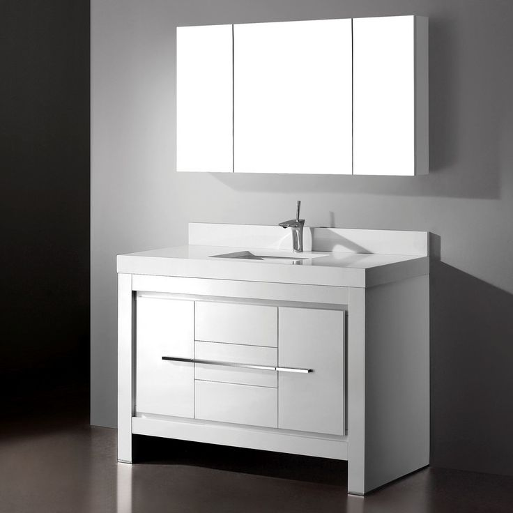 Luxury 60 Inch Single Sink Bathroom Vanity Cabinets