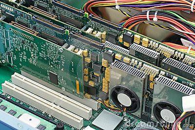 Inside a computer by Cheyennezj, via Dreamstime