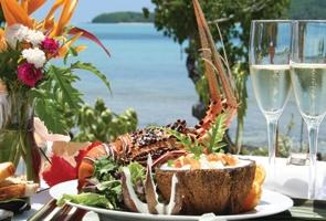 Lobster Lunch at Navutu Stars in Fiji's beautiful Yasawa Islands