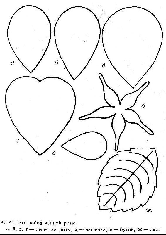 Роза из фоамирана шаблон выкройка