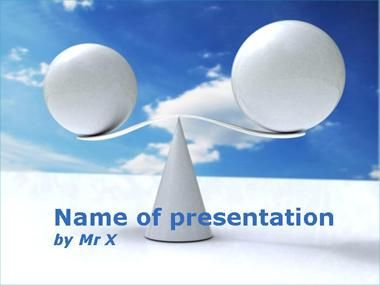 Balance of justice Powerpoint Presentation Template