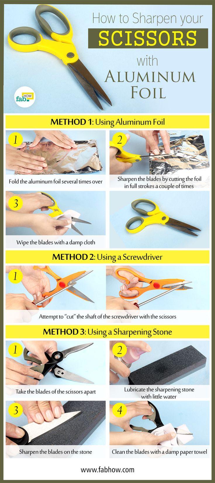 Sharpen Scissors With Aluminum